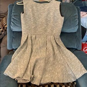 Anthropologie Paper Crown Gold Tweed flare Dress